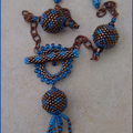 Collier BB Fermoir bleu
