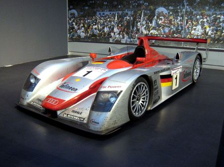 Audi R8 Le Mans prototype de 2002 (Cité de l'Automobile Collection Schlumpf à Mulhouse) 01