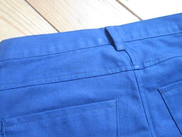 Jeans slim HOMME en toile de coton bleu majorelle - 4 poches - braguette à boutons (1)
