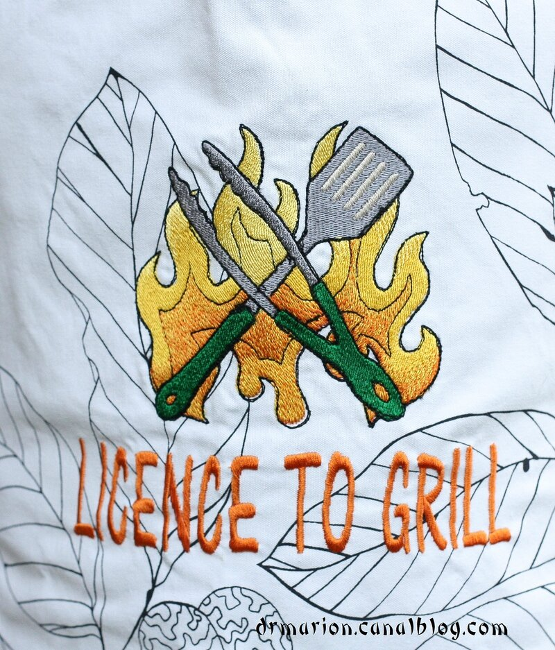 Tablier Licence to grill 2