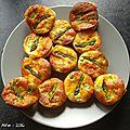 Mini-flans aux asperges vertes et saumon fumé