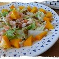 salade de chou chinois aux mangues et crevettes