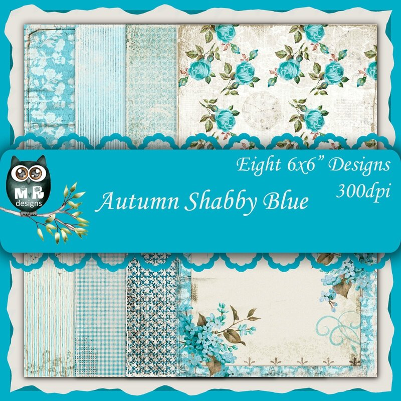 Autumn Shabby Blue Front Sheet