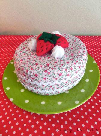 Gâteau en tissu dînette feutrine Au pays des Cactus 4