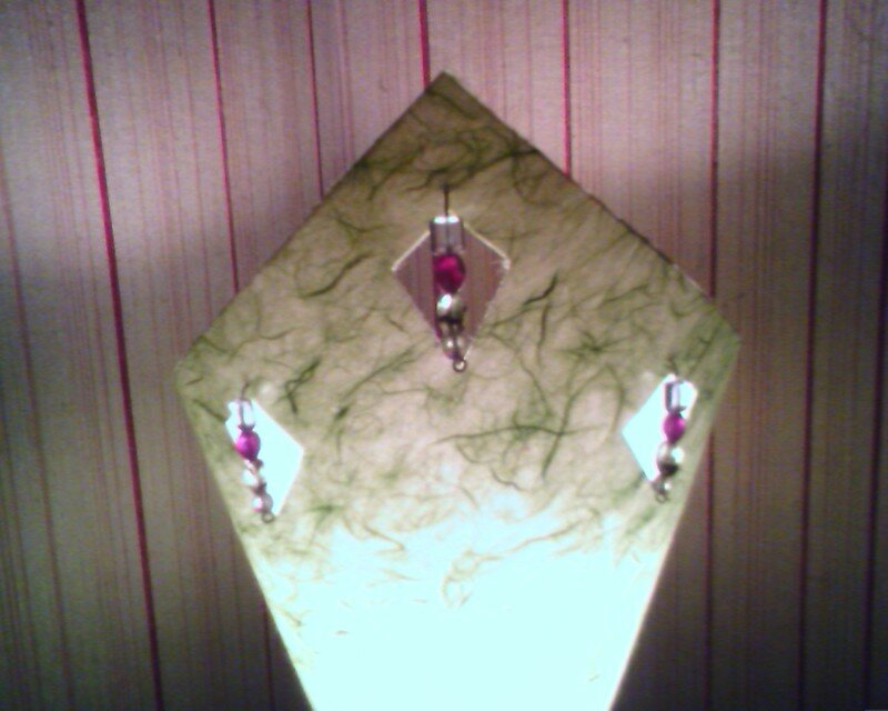 Lampe verte, détail