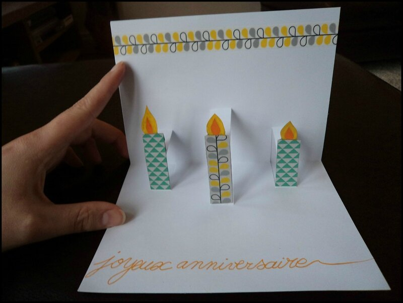 Pop-Up birthday Cam&Drey bricolent