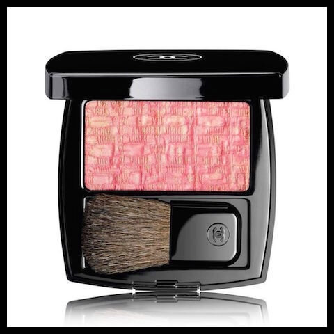 chanel blush duo les tissages tweed pink