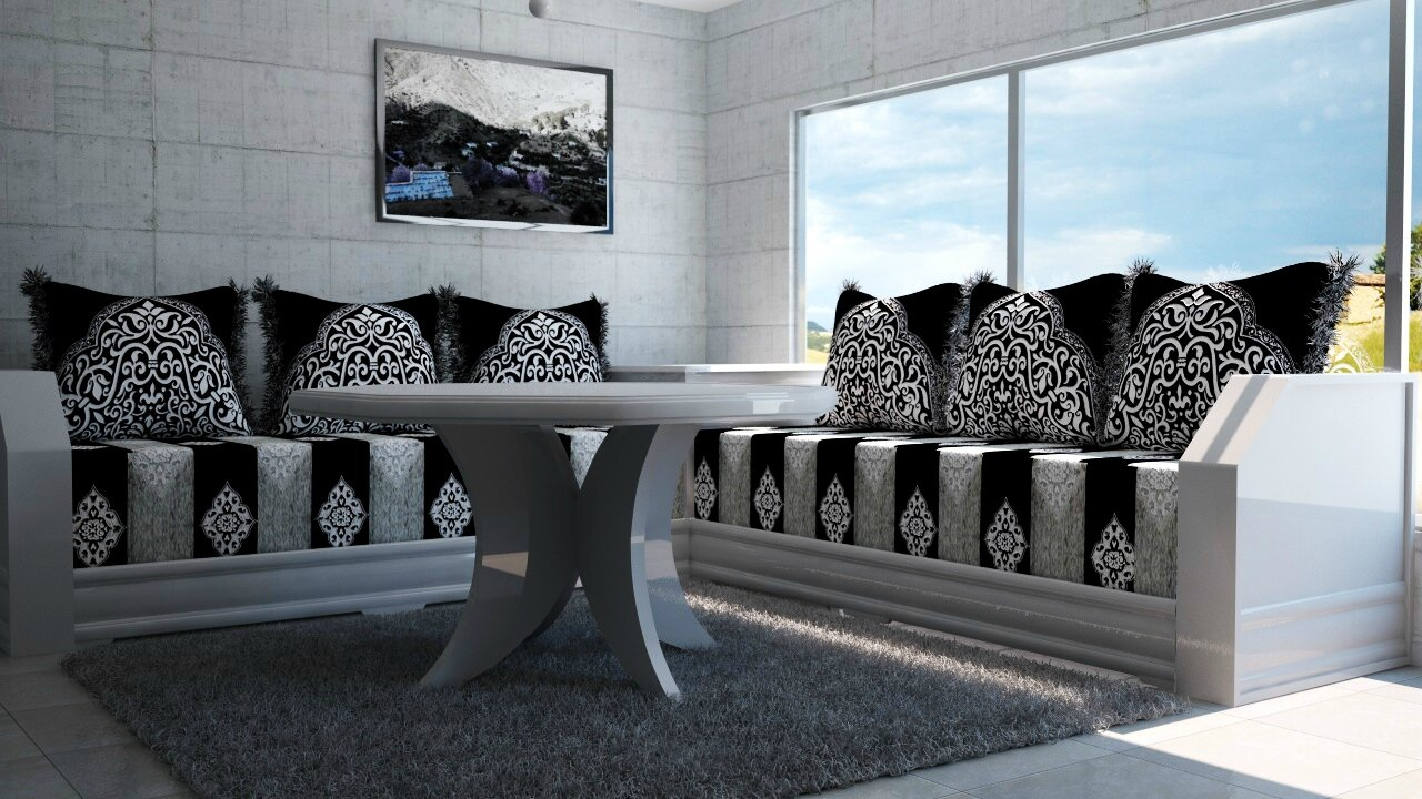 salon marocain waile salon marocain moderne. Black Bedroom Furniture Sets. Home Design Ideas