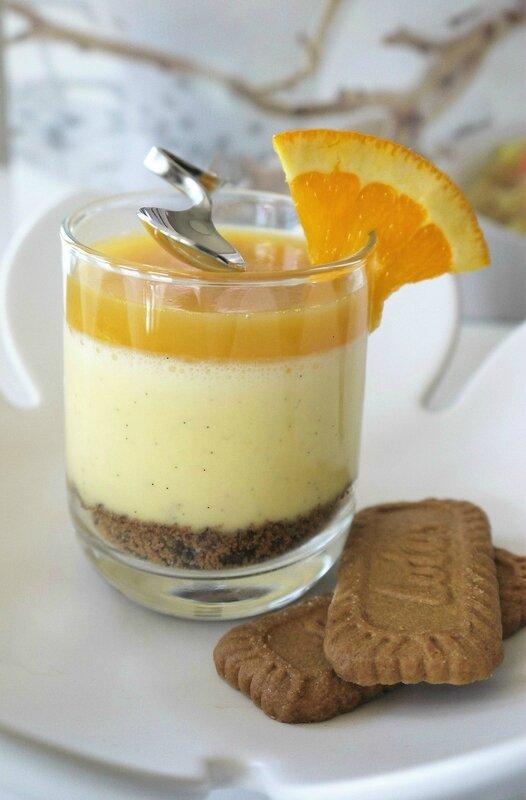 Crémeux à la Vanille Bourbon, Spéculoos et Orange à la Coriandre ...