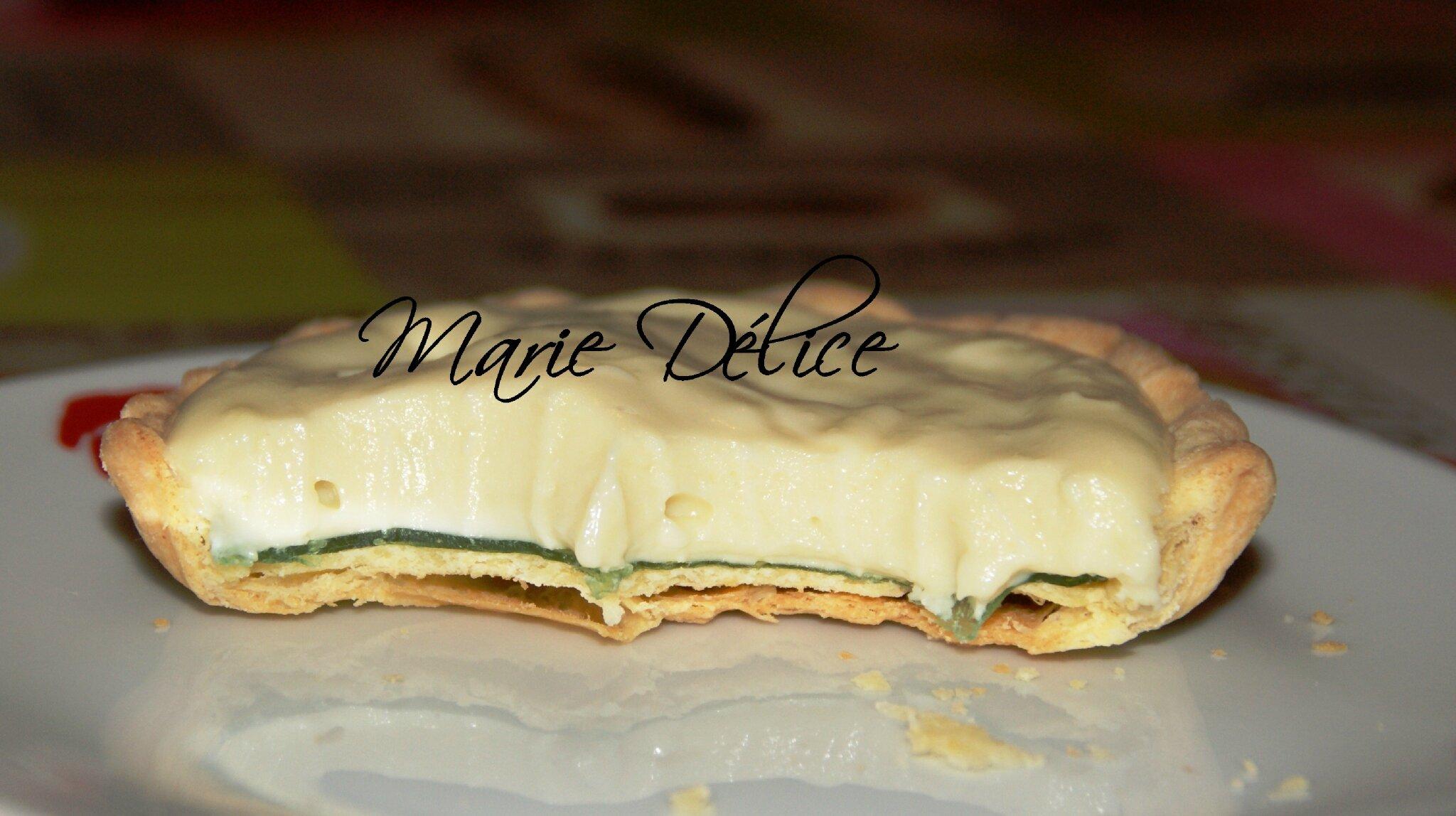 Très Tartelette chocolat blanc citron vert - Marie Délice YV31