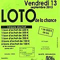 Loto de la chance du vendredi 13 septembre