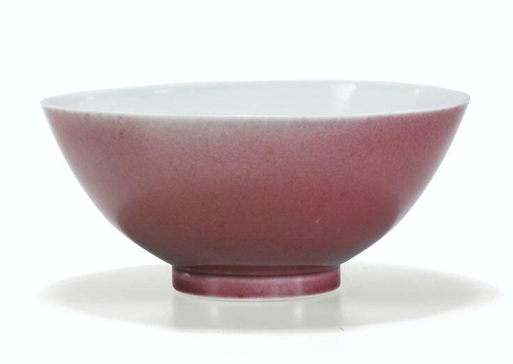 Bol en porcelaine à glaçure rouge, Marque et époque Qianlong