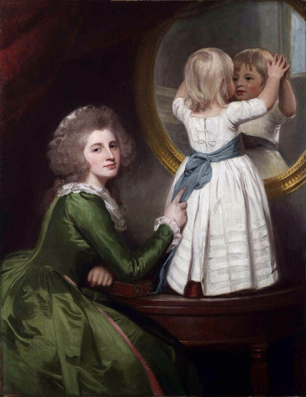 1786 - Mrs Russell and child