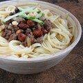 Spaghettis bolo aux cacahuètes