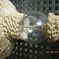 co-design...ambrasse..unique..corde tourne..boule en verre...