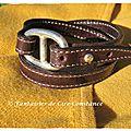 1. Bracelet cuir Belle ile chocolat
