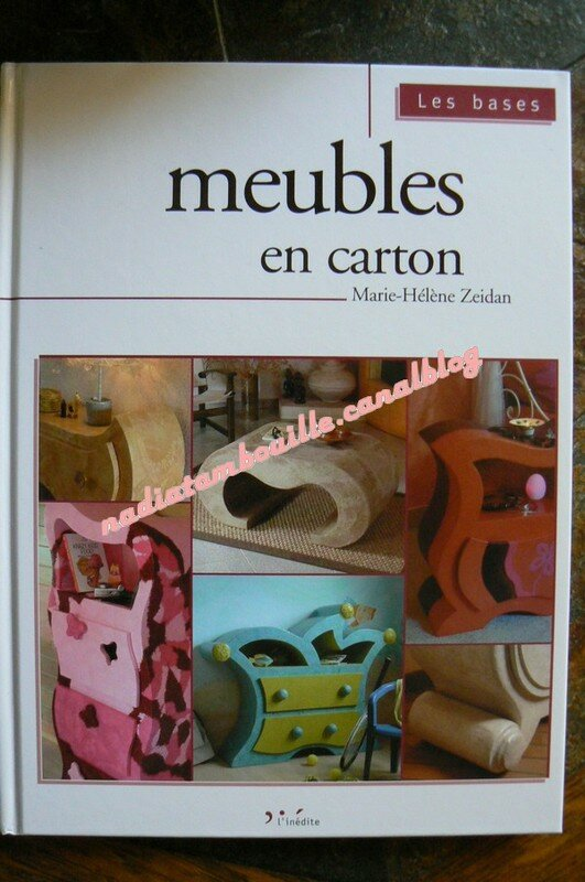 livre meubles en carton de marie h l ne zeidan les tambouilles de nadia. Black Bedroom Furniture Sets. Home Design Ideas