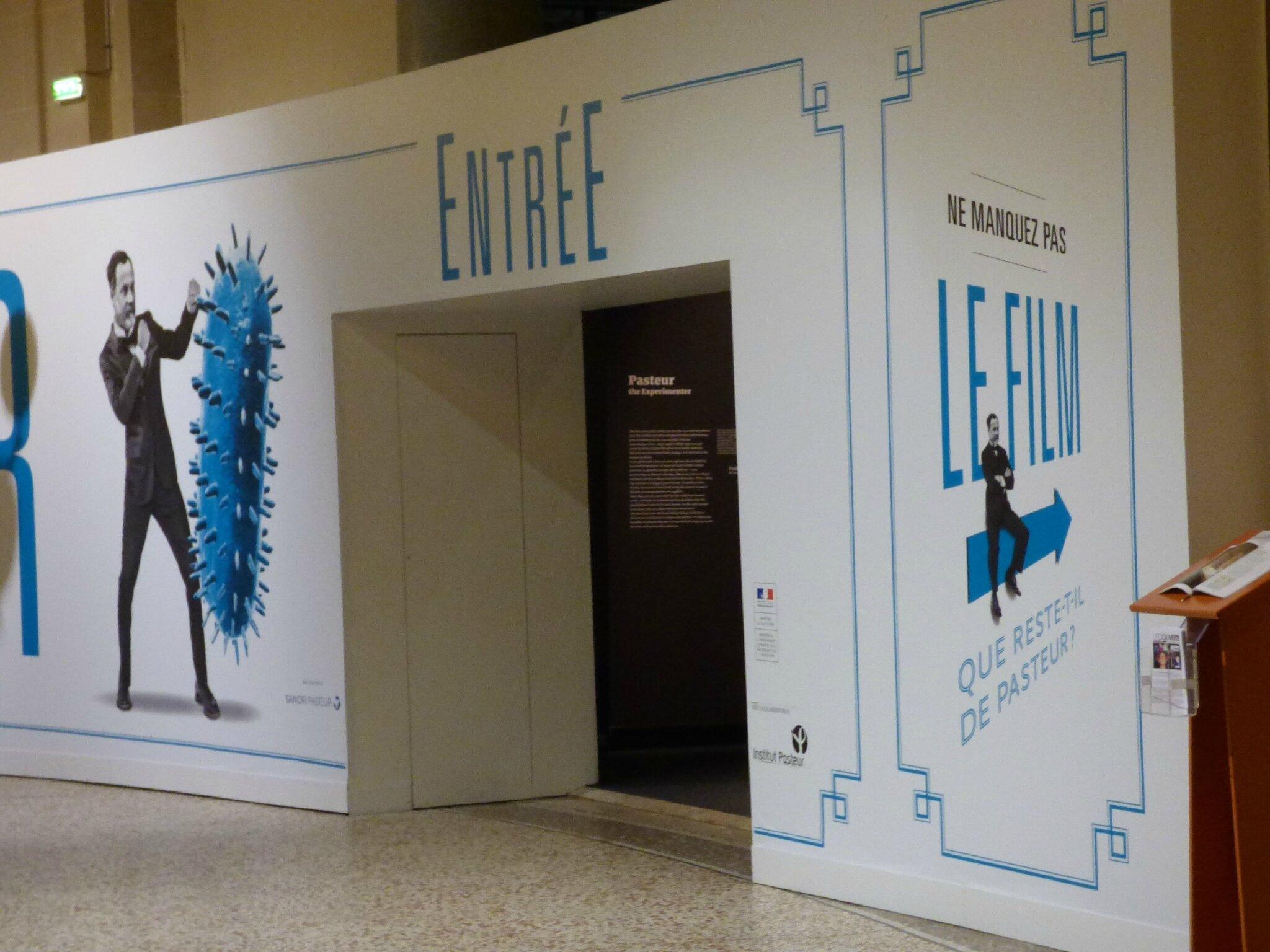 Exposition sur Pasteur en ce moment au Palais de la Découverte