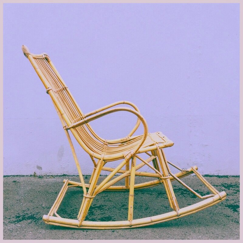 rotin rocking chair