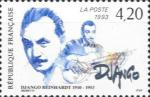 Timbre France 1993 Django Reinhardt