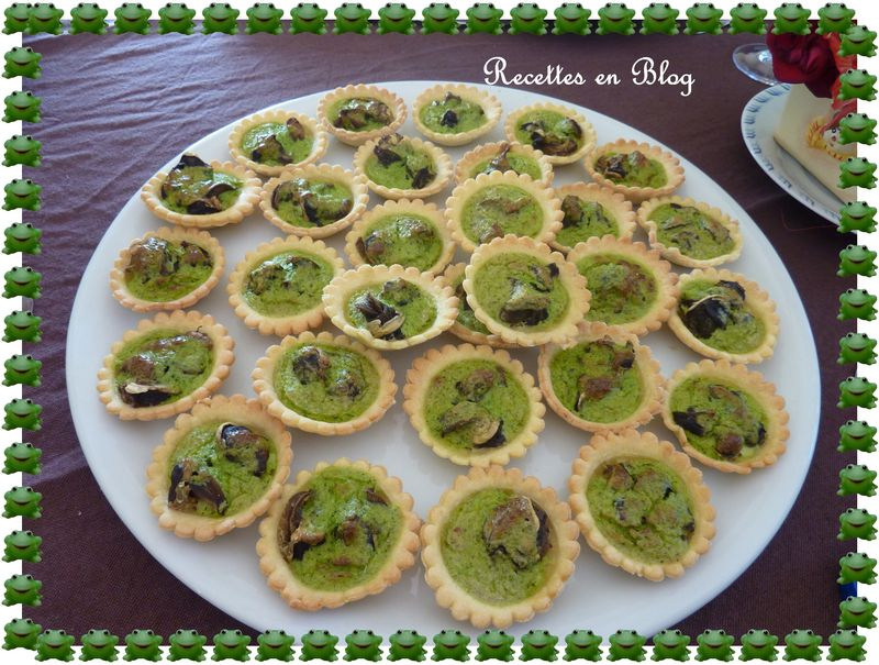 duo de mini tartelettes aux mousserons et aux escargots recettes en blog. Black Bedroom Furniture Sets. Home Design Ideas