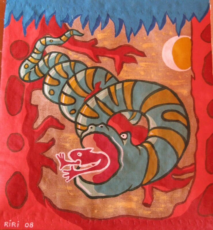 RIRI L'attaque de l'horrible serpent 2008 37 x 32,5
