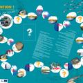 Plateau de jeu de l'oie + accesoires - CREN Lyon
