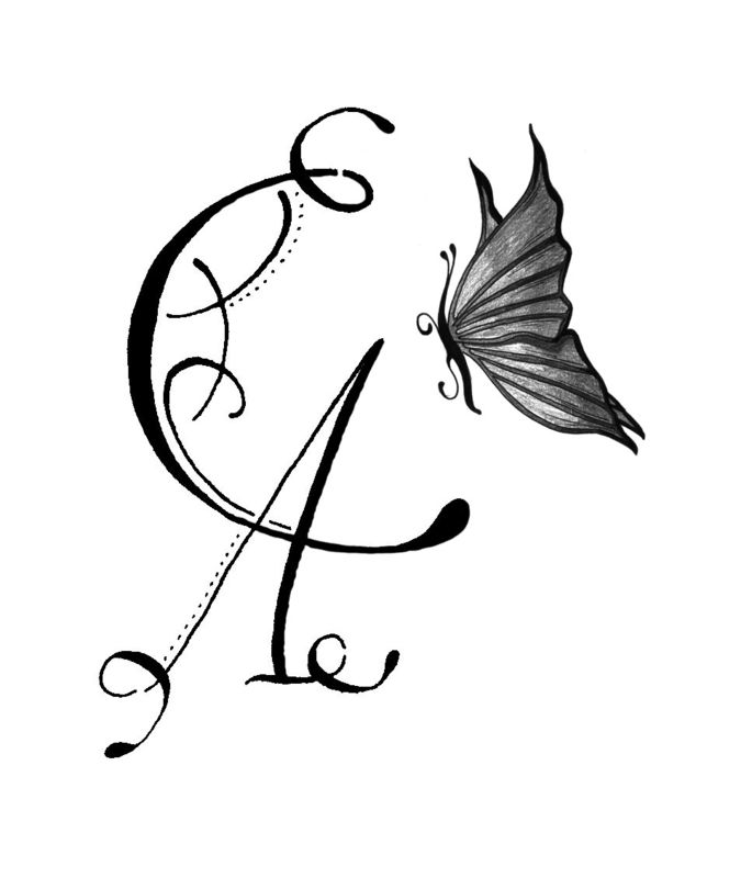 Tatouage mt l 39 association emily calligraphy - Tatouage lettre l ...