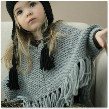 patron tricot poncho fille