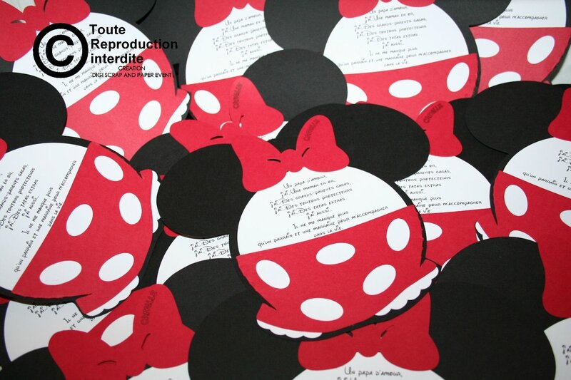 faire part minnie mouse digi scrap and paper event. Black Bedroom Furniture Sets. Home Design Ideas
