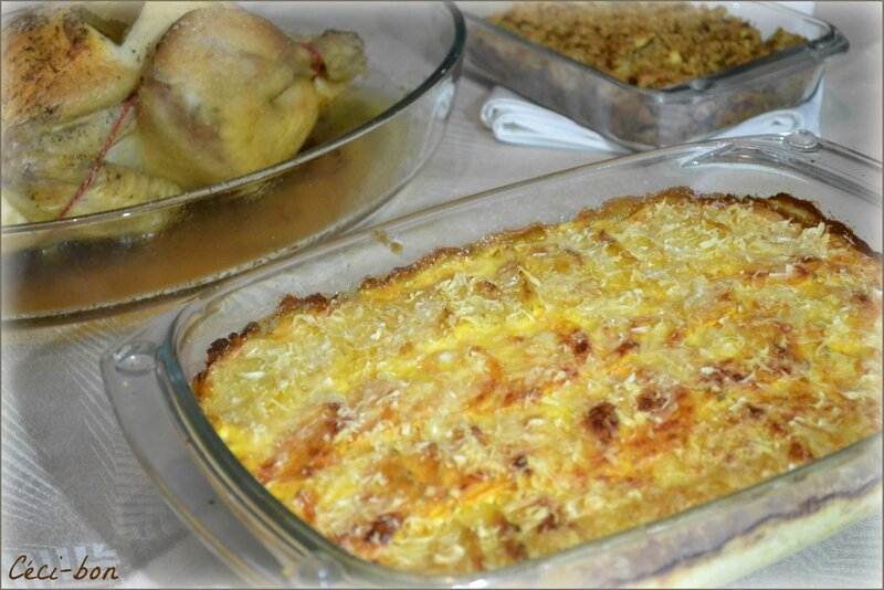 Gratin PdT, patate douce