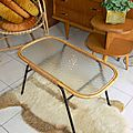 Table Basse Verre Rotin