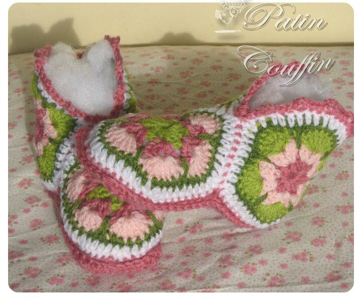 chaussons african flower22