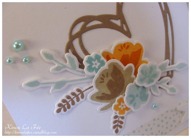 Carte Merci coeur + fleurs 3