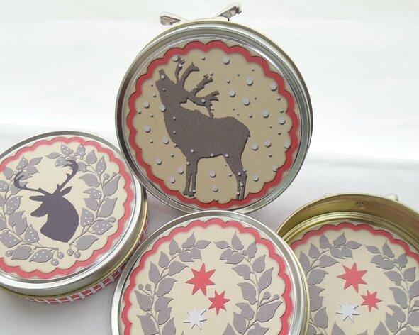 3 christmas cream gift box