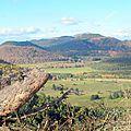 Chaîne des puys, vue depuis le puy de Combegrasse