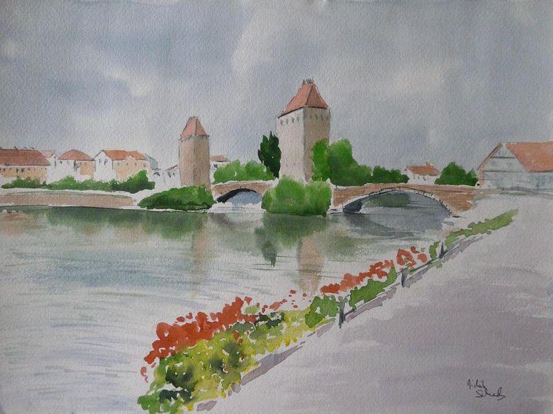 Haguenau - Aquarelle