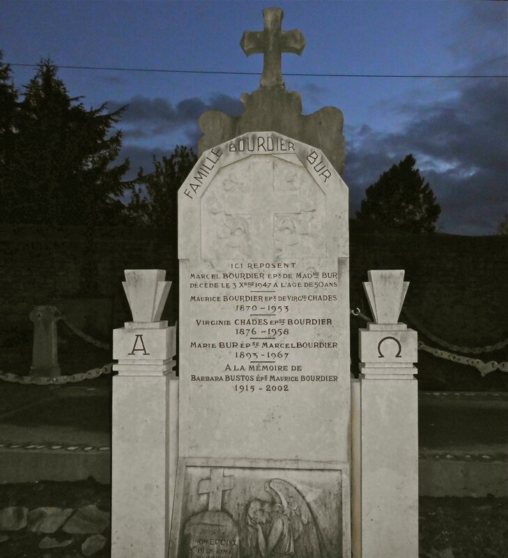 stèle Bourdier cimetière St-Cham