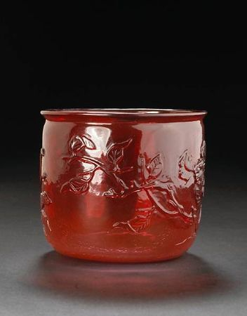 A_red_glass_cup