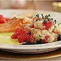 Filet de truite à l'écrasé de pommes de terre.......une jolie idée pour les fêtes ou pas!