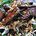 Salade au boeuf, inspiration asiatique