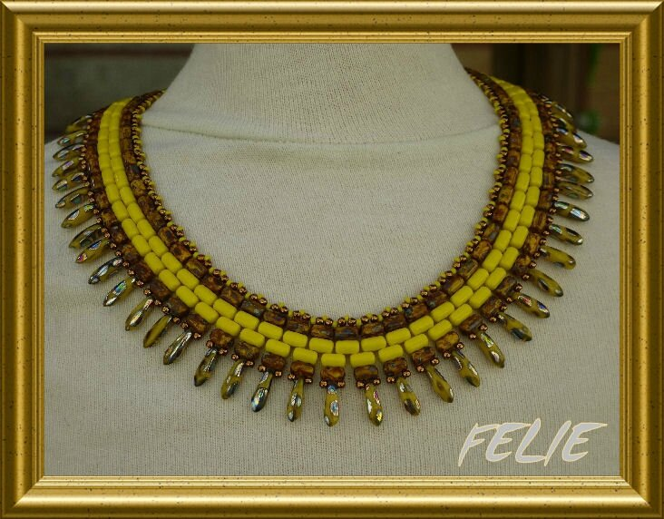 COLLIER JAUNE MA CREATION