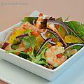 Salade folle saumon-crevettes