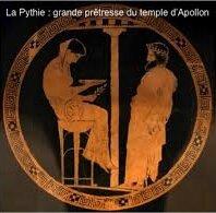la Pythie, grande prêtresse d'Apollon