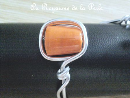 Bracelet alu orange B détail 1a