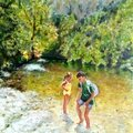 Avril 2015 Damien et Julia dans les gorges du Tarn