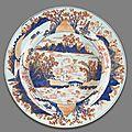 Three kangxi period's 'chinese imari' export porcelain @ bonhams. fine asian art, 21 jun 2011, san francisco