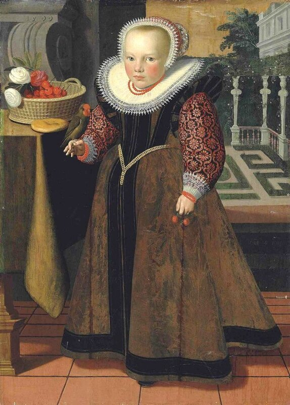 1599_attr_Gortzius_Geldorp__Dutch_painter__1553_1618__Portrait_of_a_Girl_aged_4__dated_1599
