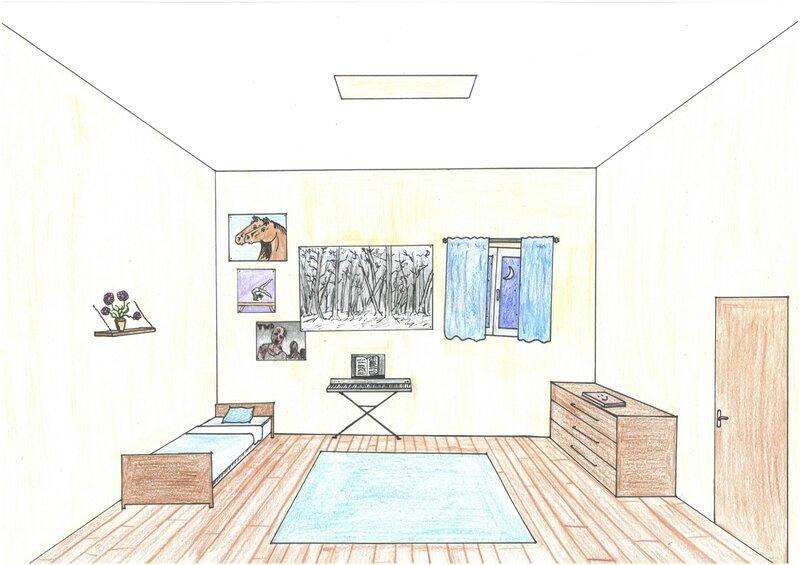 Ma chambre id ale par ang le blanchet lmb blog - Dessin muurschildering chambre fille ...