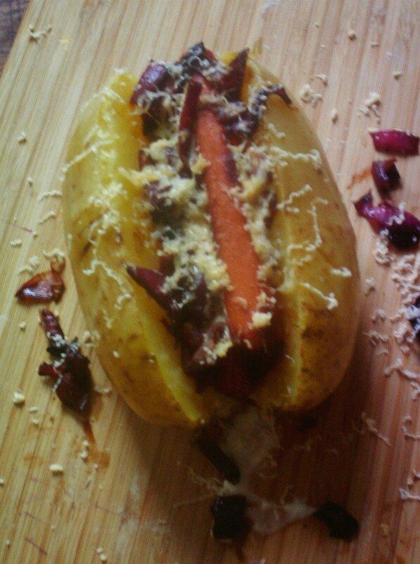potatoes hot dog